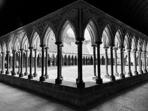 arches of the abbey stock images