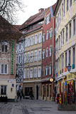 Architecture in the area called `Bermuda Triangle` in Graz Royalty Free Stock Photo
