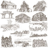 Architecture around the world - an hand drawn pack Stock Image
