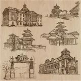 Architecture around the World - An hand drawn vector pack, colle Royalty Free Stock Photography