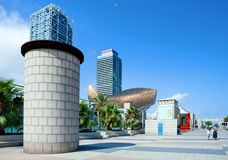 The architecture and the art in Barcelona stock photo