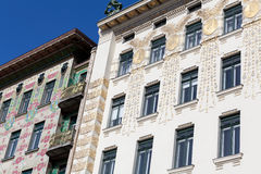 Architecture art nouveau by Otto Wagner, Vienna Stock Image
