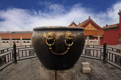 Architecture and artifacts of the Forbidden City Stock Photography