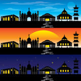 Architecture asiatique et bâtiment illustration libre de droits