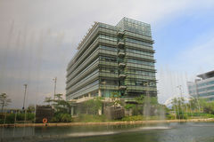 Architecture aux parcs scientifiques de science et technologie du HK image libre de droits