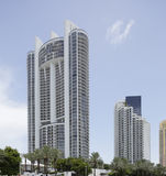 Architecture ayant beaucoup d'étages Sunny Isles Beach Photos stock