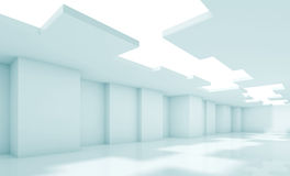 Architecture background, blue toned 3d render Royalty Free Stock Photos