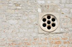 Architecture background with a circular window Royalty Free Stock Images