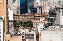 Architecture background city sao paulo. Brazil Royalty Free Stock Photo