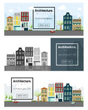 Architecture background Cityscape banner Royalty Free Stock Photo