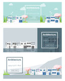 Architecture background Cityscape banner Stock Photography