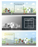 Architecture background Cityscape banner Stock Photos