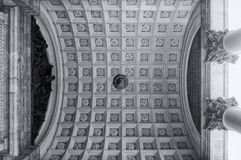Colonnade capitals and ceiling of the St Isaac Cathedral in St Petersburg, Russia Royalty Free Stock Photos