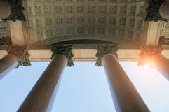 Colonnade of the St Isaac Cathedral in St Petersburg Russia Royalty Free Stock Photos