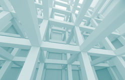 Architecture Background. 3d Blue Abstract Architecture Background Royalty Free Stock Photos