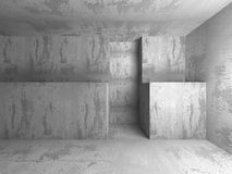 Architecture background. Dark empty concrete abstract room. 3d render illustration Stock Photos