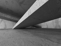Architecture background. Dark empty concrete abstract room Royalty Free Stock Photo