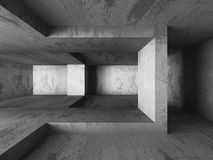 Architecture background. Dark empty concrete abstract room Stock Photos