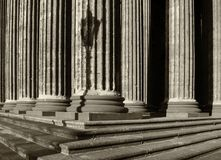 Colonnade of the Kazan Cathedral in Saint Petersburg Russia. Sepia processing Stock Photography