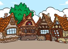 Architecture background medieval house Stock Images