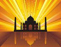 Architecture background. Taj Mahal. vector illustration