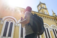 Architecture, Backpack, Backpacker royalty free stock image
