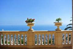 Architectural landmark of the Bahai temple in Haifa. Israel Stock Images