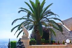 Architectural landmark of the Bahai temple in Haifa. Israel royalty free stock image