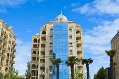 Architecture of Baku, modern building Royalty Free Stock Images