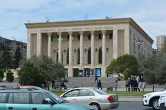 Architecture of Baku, national drama theater Royalty Free Stock Photography