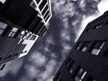 Architecture, Balconies, Black Royalty Free Stock Photos