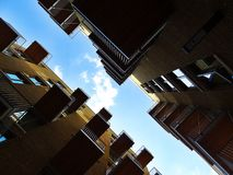 Architecture, Balconies, Building Royalty Free Stock Images