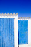 Architecture balearic islands blue door Royalty Free Stock Images