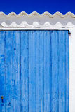 Architecture balearic islands white blue doors Stock Photo