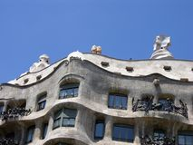 Architecture in Barcelona. Building Royalty Free Stock Photo
