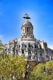 Old beautiful architecture in Barcelona Royalty Free Stock Image