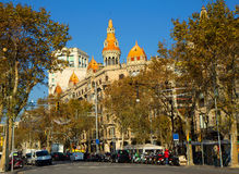 The Architecture Of Barcelona. In the Barcelona`s architecture combines the old and the new that makes the town breathtakingly beautiful royalty free stock photography