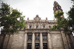Architecture of Barcelona, Spain. Correos telefrafos Royalty Free Stock Images