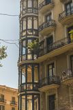 Architecture of Barcelona, Spain. Typical  architectural details in the city center of the Barcelona, Spain stock photos