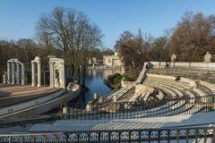 Architecture baroque de Varsovie dans des couleurs de chute Image libre de droits