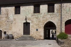 Architecture of Baume-les-messieurs. Jura, Franche-Comte, France stock photos