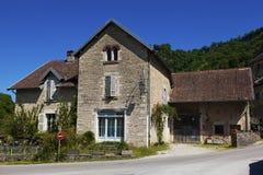 Architecture of Baume-les-messieurs, Jura. Franche-Comte, France stock photos