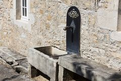 Architecture of Baume-les-messieurs, Jura. Franche-Comte, France royalty free stock photo