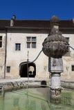 Architecture of Baume-les-messieurs, Jura. Franche-Comte, France stock images