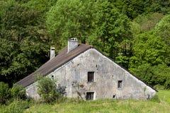 Architecture of Baume-les-messieurs, Jura. Franche-Comte, France stock image