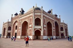 Humayun's tomb in Delhi. Architecture belongs to Mughal empire Royalty Free Stock Image