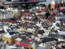 Architecture of Bergen, Norway Stock Image