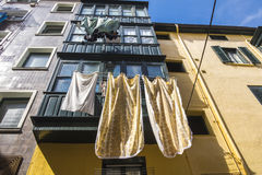 Architecture in Bermeo, fisherman village at Basque Country coas Stock Photo
