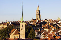 Architecture of Bern in the morning Stock Photography