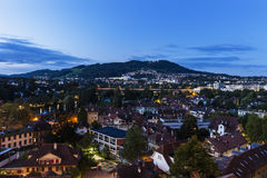 Architecture of Bern at night Stock Images